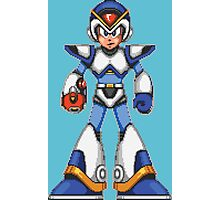 Mega Man X - Light Armor Photographic Print