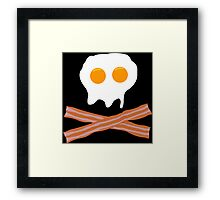 Eggs Bacon Funny Geek Nerd Framed Print