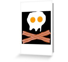 Eggs Bacon Funny Geek Nerd Greeting Card