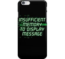 Insufficient Memory v2 iPhone Case/Skin