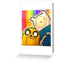 Finn&Jake Greeting Card