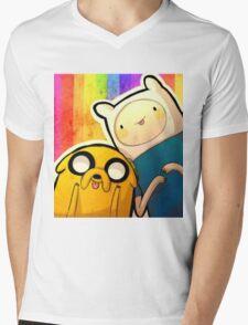 Finn&Jake Mens V-Neck T-Shirt