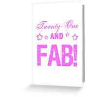 Fabulous 21st Birthday Greeting Card