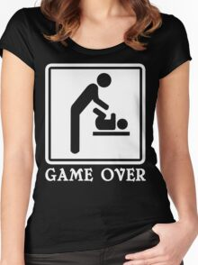 Game Over Funny Geek Nerd Women's Fitted Scoop T-Shirt