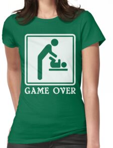 Game Over Funny Geek Nerd Womens Fitted T-Shirt