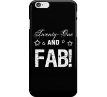 Fabulous 21st Birthday iPhone Case/Skin