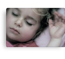 Sleeping Angel Canvas Print