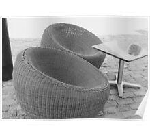 Rattan Chairs in Playa del Carmen Poster