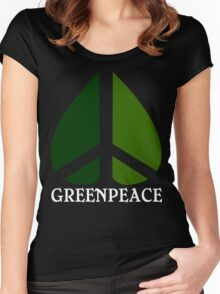 Greenpeace Funny Geek Nerd Women's Fitted Scoop T-Shirt
