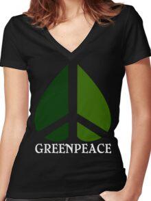 Greenpeace Funny Geek Nerd Women's Fitted V-Neck T-Shirt