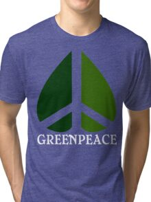 Greenpeace Funny Geek Nerd Tri-blend T-Shirt