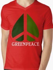 Greenpeace Funny Geek Nerd Mens V-Neck T-Shirt