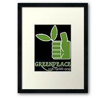 Greenpeace 100 Renewable Energy Funny Geek Nerd Framed Print
