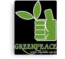 Greenpeace 100 Renewable Energy Funny Geek Nerd Canvas Print