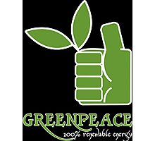 Greenpeace 100 Renewable Energy Funny Geek Nerd Photographic Print