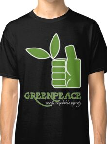 Greenpeace 100 Renewable Energy Funny Geek Nerd Classic T-Shirt