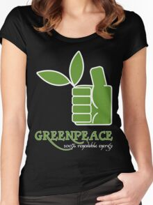 Greenpeace 100 Renewable Energy Funny Geek Nerd Women's Fitted Scoop T-Shirt