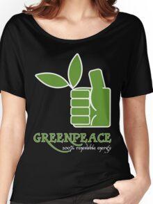 Greenpeace 100 Renewable Energy Funny Geek Nerd Women's Relaxed Fit T-Shirt