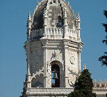 The clocktower of the chuch Sta, Maria by presbi