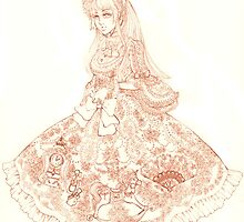 Belle Époque Rose Lineart by aini