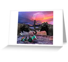 Fighting Elephants Justin Beck Picture 2015091 Greeting Card
