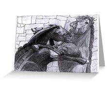 Fighting Horses Justin Beck Picture 2015092 Greeting Card
