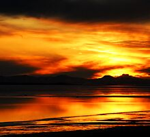 Antelope Island Sunset by Ryan Houston