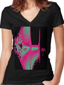 Fossils Women's Fitted V-Neck T-Shirt