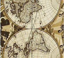 Antique World Map Vintage by CantikaCase