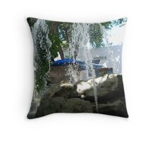 Playa del Carmen Fountain Throw Pillow