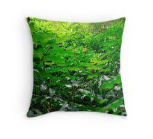 Green foliage Throw Pillow