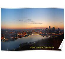 Pittsburgh panoramic sunrise Poster