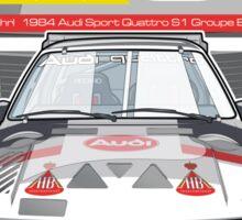 Audi Quattro Sport S1 - 1984 Sticker