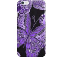 Purple and Black Butterfly Pattern iPhone Case/Skin