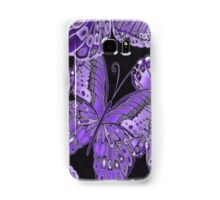 Purple and Black Butterfly Pattern Samsung Galaxy Case/Skin