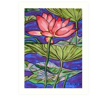 Lily/Lotus - in oil pastel Art Print
