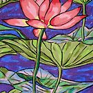 Lily/Lotus - in oil pastel by Alexandra Felgate