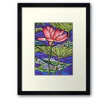 Lily/Lotus - in oil pastel Framed Print