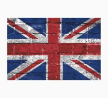 Union Jack Flag Brick Wall Kids Clothes