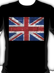Union Jack Flag Brick Wall T-Shirt