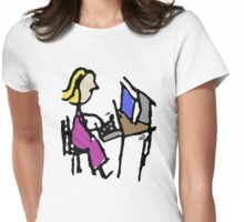 The Businesswoman Womens Fitted T-Shirt