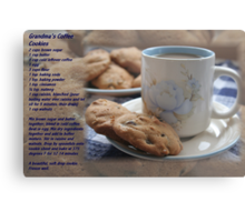 Grandma's Coffee Cookies (recipe) Metal Print