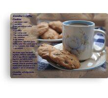 Grandma's Coffee Cookies (recipe) Canvas Print