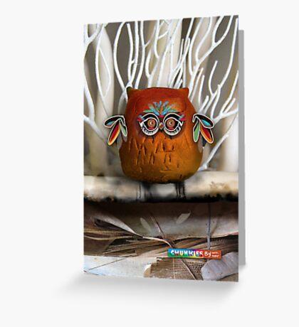 CHUNKIE Owl Greeting Card