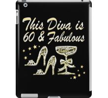 SILVER SPARKLING 60 AND FABULOUS iPad Case/Skin