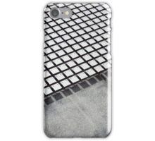 Concrete and tiles (vertical). Tiles wave in the light creating a moire effect on the side of a building..  iPhone Case/Skin