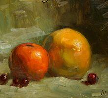 Grapes, Orange and Grapefruit by Les Castellanos