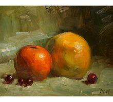 Grapes, Orange and Grapefruit Photographic Print