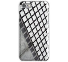 Concrete and tiles. Tiles wave in the light creating a moire effect on the side of a building..  iPhone Case/Skin
