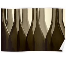 Wine Bottles in Sepia Poster